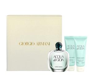 Rinkinys Giorgio Armani Acqua di Gioia: parfumuotas vanduo EDP 50ml + 75ml kūno losijonas + 75ml dušo žėlė, moterims