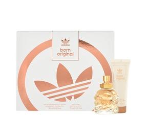 Rinkinys Adidas Born Original: parfumuotas vanduo EDP 30ml + 75ml kūno losijonas, moterims