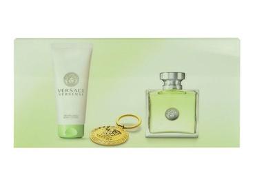 Rinkinys Versace Versense: tualetinis vanduo EDT 100ml + 100ml kūno losjonas + raktų pakabukas, moterims