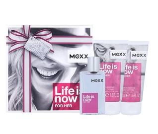 Rinkinys Mexx Life is Now: tualetinis vanduo EDT 30 ml + kūno losjonas 2x50 ml, moterims