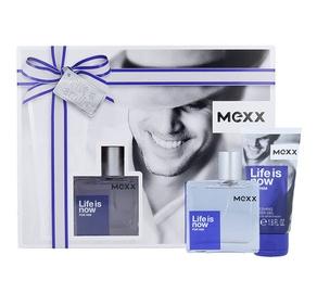 Rinkinys Mexx Life is Now: tualetinis vanduo EDT 30ml + 50ml dušo žėlė, vyrams