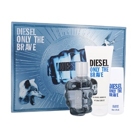 Rinkinys Diesel Only the Brave: tualetinis vanduo EDT 75 ml + dušo žėlė 100 ml + dušo žėlė 50 ml, vyrams