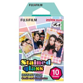 FOTOJUOSTA INSTAX MINI STAINED GLASS (10/PK) (FUJIFILM)
