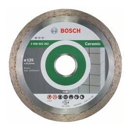 Deimantinis tiesus diskas plytelėms Bosch, 125 mm x 22.23 mm