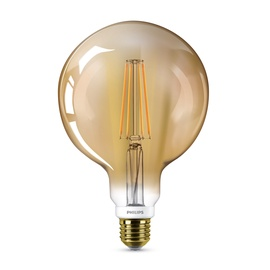 "LED LEMPUTĖ ""CLASSIC"" G120 7 W; E27 GOLD D 630L (PHILIPS)"