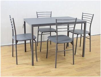 Valgomojo baldų komplektas: stalas ir 4 kėdės