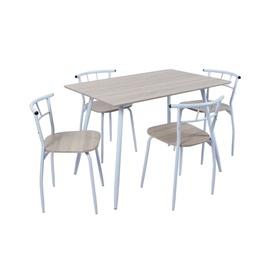 Valgomojo baldų komplektas, stalas ir 4 kėdės