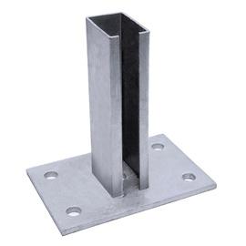 Puitposti põhjaplaadile kinnitaja, 60x40 mm