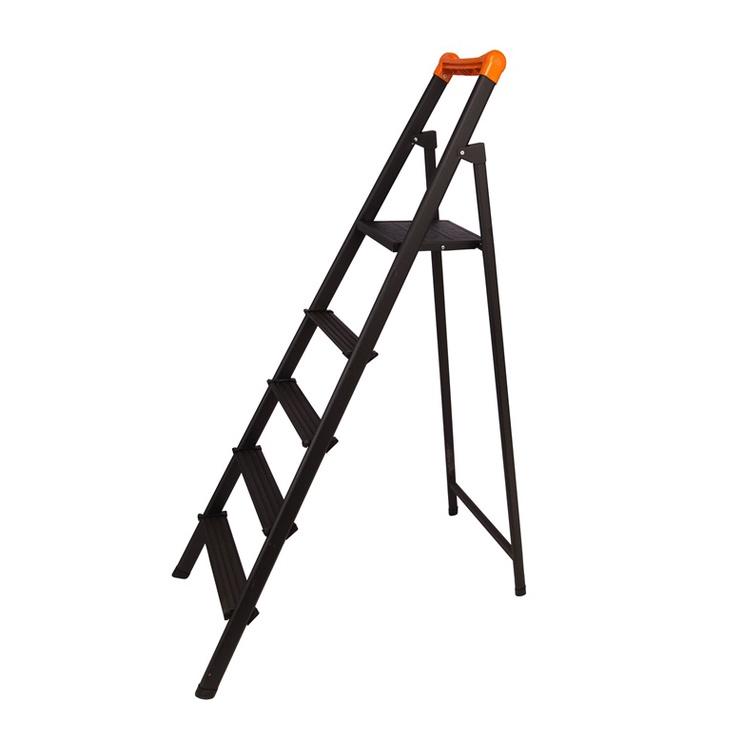 Buitinės kopėčios H104 ,5 pakopos, juodos