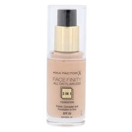 Makiažo pagrindas Max Factor Face Finity 3in1 SPF20, 50 Natural, 30ml, moterims