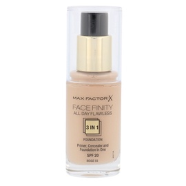 Makiažo pagrindas Max Factor Face Finity 3in1 SPF20, 55 Beige, 30ml, moterims