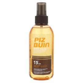 Purškiamas apsauginis losjonas nuo saulės Piz Buin Wet Skin Transparen SPF15, 150ml, moterims
