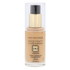 Makiažo pagrindas Max Factor Face Finity 3in1 SPF20, 63 Sun Beige, 30ml, moterims