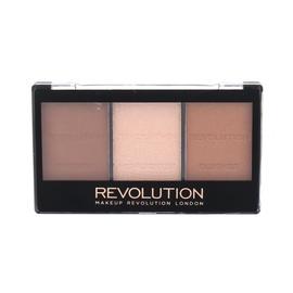 Veido kontūravimo paletė Makeup Revolution Ultra, C04 Ultra Light/Medium, 11g, moterims