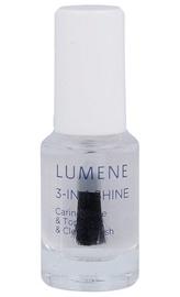 Nagų lako pagrindas ir viršutinis sluoksnis Lumene Gloss & Care 3-In-1 Shine, 5ml, moterims