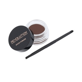 Kreminiai antakių dažai Makeup Revolution Brow Pomade, su dvipusiu šepetėliu, Chocolate, 2,5g, moterims