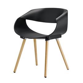 Moderni kėdė, juoda