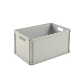 Dėžė be dangčio, pilka, Keeper, 64 l, 60x40x32 cm