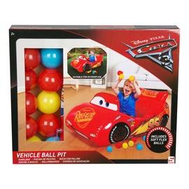 Žaislinė pripučiama mašina Cars, su kamuoliukais  110x50x60 cm