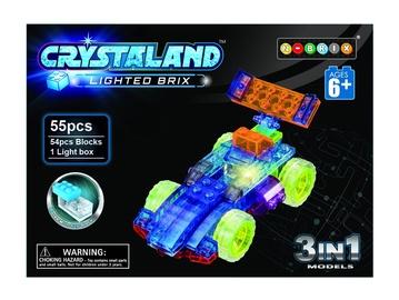 Konstruktorius Crystaland Mašina, šviečiantis 3in1, 55 dalys
