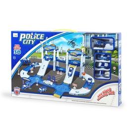 Žaislinė policijos trasa su 3 automobiliukais ir sraigtasparniu