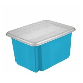 Mėlyna daiktadėžė su dangčiu, 45 l Keeper, 30x40x55,5 cm