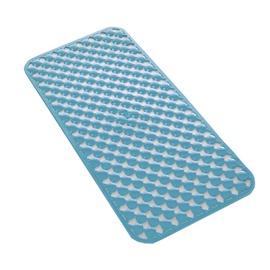 Neslystantis vonios kilimėlis Gedy Geo, mėlynas 36x71cm