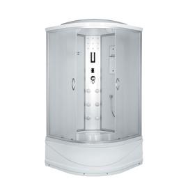 Masažinė dušo kabina Erlit 4509TP-C3; 90 x 90 cm; su aukštu padu
