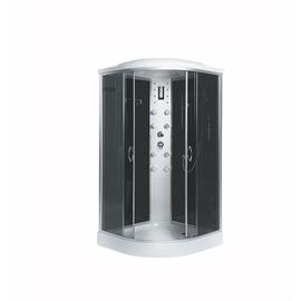 Masažinė dušo kabina žemu pagrindu Erlit 4509P-C4; 90 x 90 cm; 4 dalys