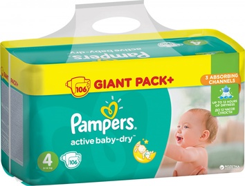 Autiņbiksītes Pampers Active Baby-dry S4 106 gab.