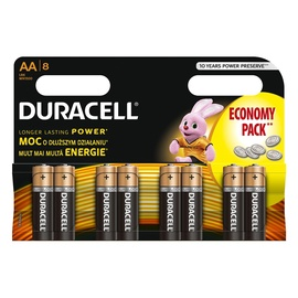 Elementai Duracell AA, LR6, 8 vnt