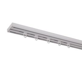 Aliuminio lubinio karnizo komplektas, 3 grioveliai, 240 cm