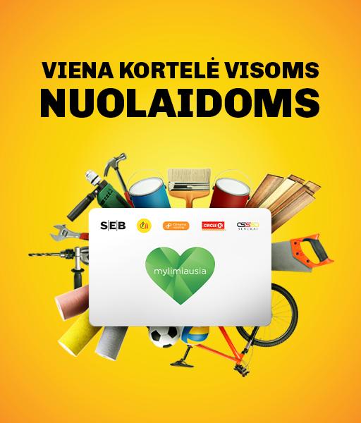 Lojalumo programa Mylimiausia kortelė mobile