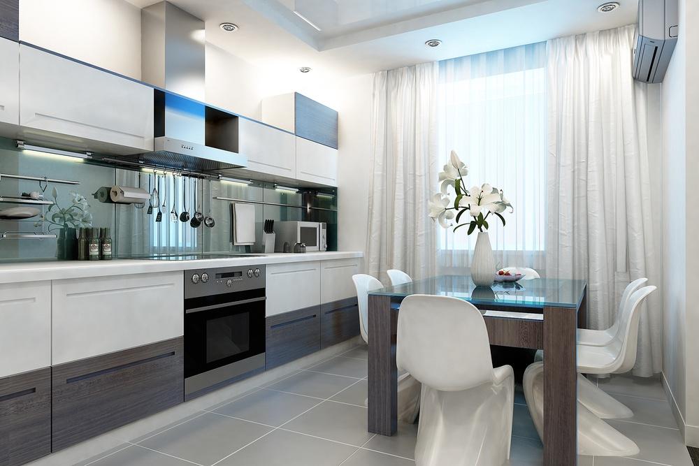 Ma os virtuv s interjero id jos kaip vizualiai padidinti for Casa moderna stretta