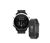 Žingsniamačiai, chronometrai, išmanieji laikrodžiai ir kiti priedai