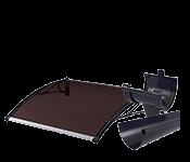 Polikarbonatiniai stogeliai, lietaus nutekėjimo sistemos