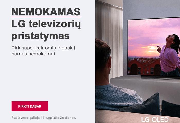 Geriausi LG televizorių pasiūlymai! Pirk super kainomis ir gauk į namus nemokamai!