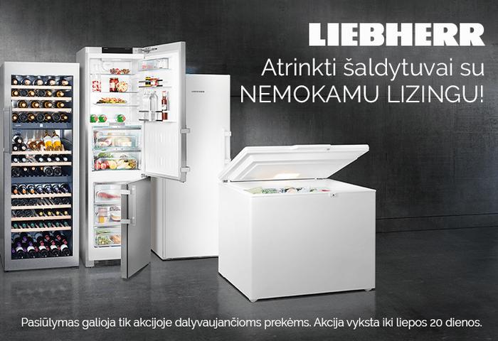Atrinkti Liebherr šaldytuvai su nemokamu lizingu