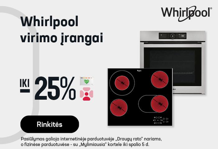 Whirlpool virimo įrangai iki -25 %