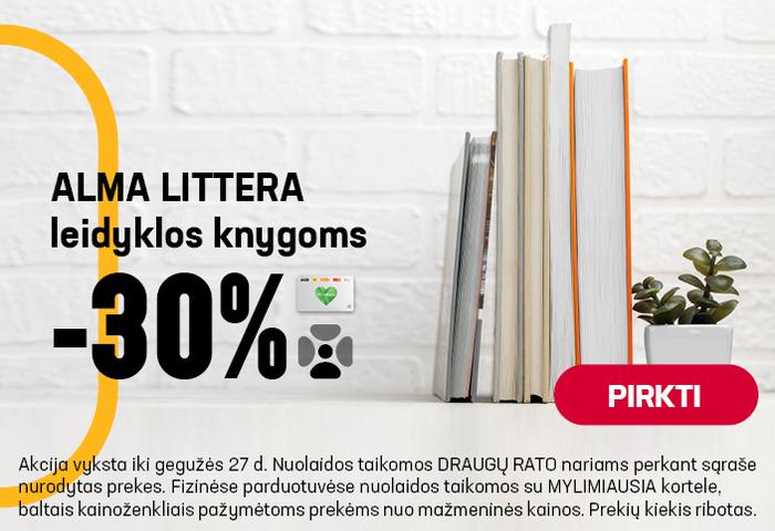 Alma Littera leidyklos knygoms -30 %