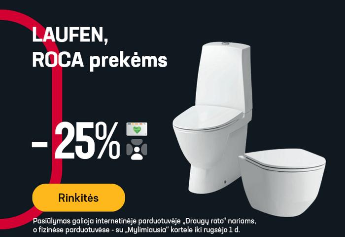 LAUFEN, ROCA prekėms -25 %