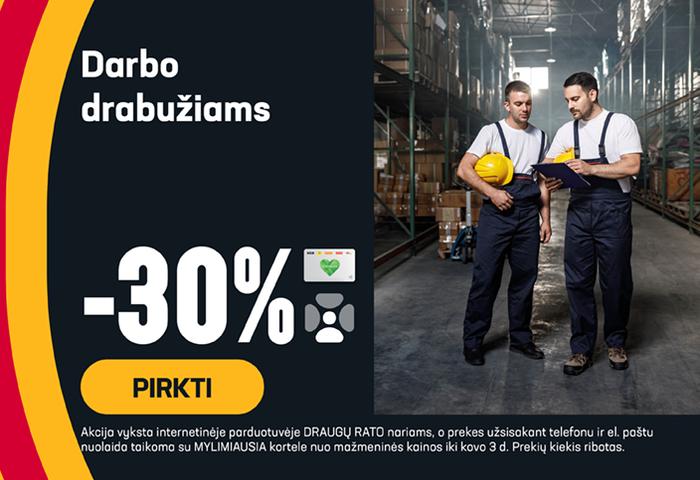 Darbo drabužiams -30 %