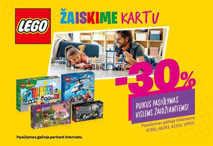 LEGO išvardintoms prekėms -30 %