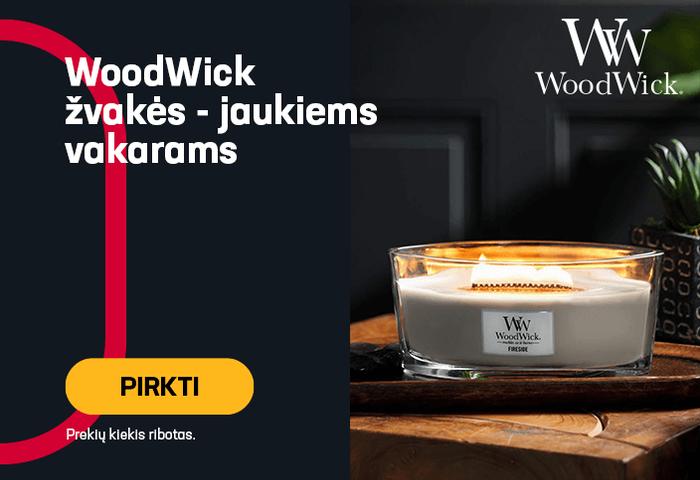 WoodWick žvakės - jaukiems vakarams