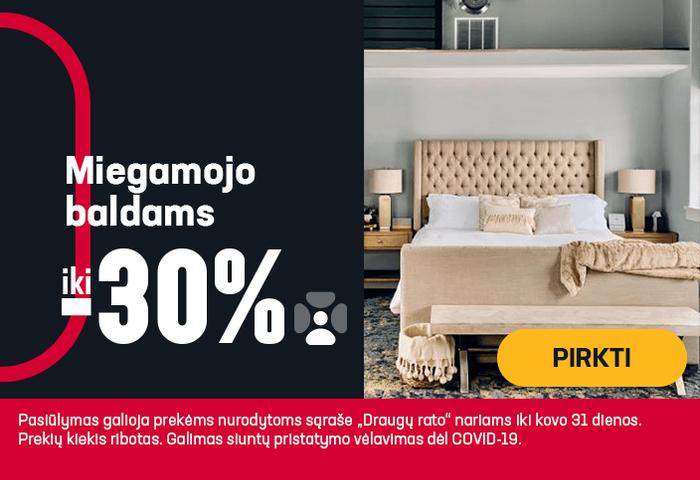 Iki -30% miegamojo baldams