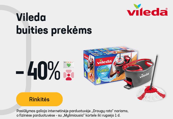 VILEDA buities prekėms -40 %
