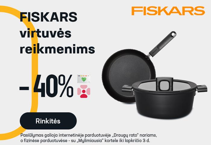 FISKARS virtuvės reikmenims -40 %