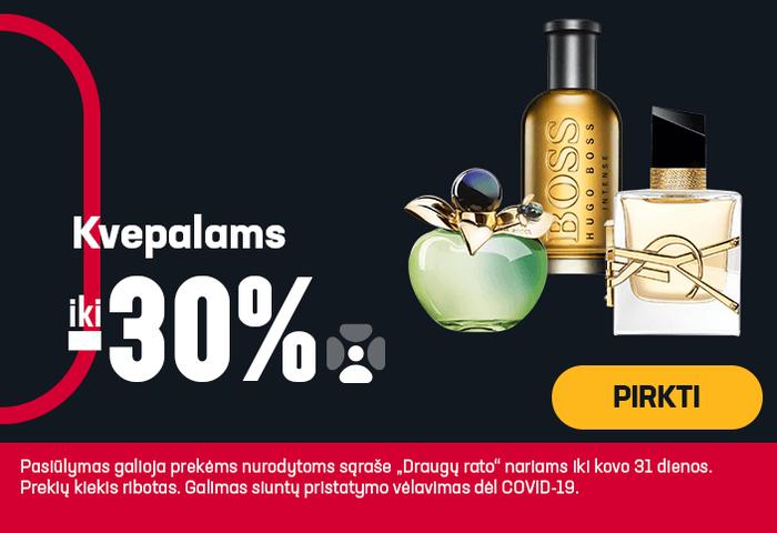 Iki -30% kvepalams