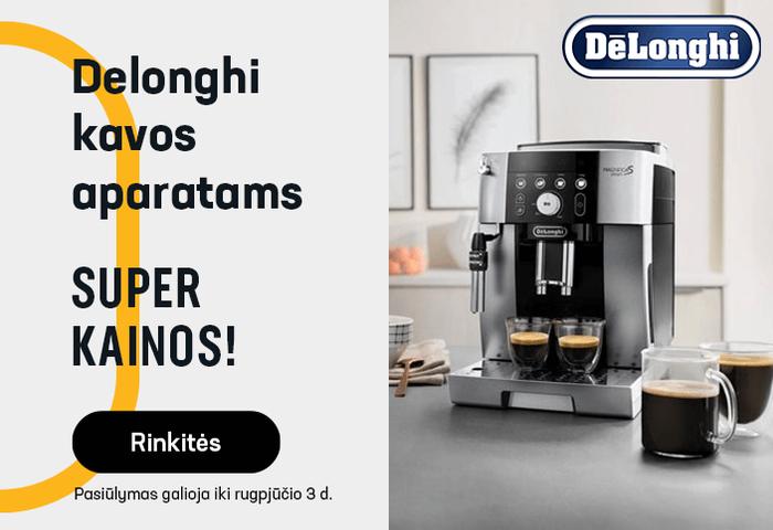 Delonghi kavos aparatai SUPER KAINOMIS