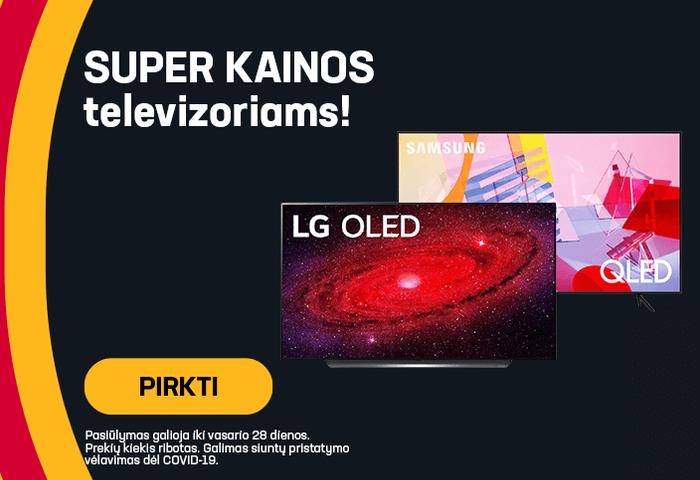 Super kainos televizoriams